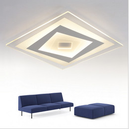 Super-thin LED Ceiling lights dimmible Square Ceiling Chandeliers Lighting for Living room Bed Room lamps fixture