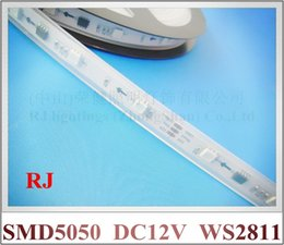 Wholesale Soft Silicone Tubes - WS 2811 RGB magic LED strip light SMD 5050 LED soft strip DC12V SMD5050 30led M with silicone tube waterproof WS2811 CE ROHS