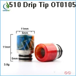 Wholesale Chinaye newest product polymer materials epoxy resin drip tip mouthpiece for e cigarette fit rda rdta atomizer vape vaporizer
