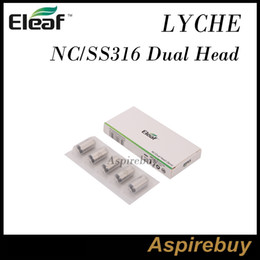 Eleaf LYCHE Coils Replacement NC NotchCoil SS316L 0.25ohm Head 40-80W& SS316 Dual Head 0.25ohm Coils 40-80W for Eleaf LYCHE Tank 100% Genius