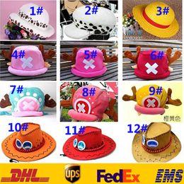 Wholesale Adult Carton ONE PIECE Monkey D Luffy Nico Robi Chopper Hat Summer Unisex Straw hat Winter Warm Beanie Fedora Cosplay Caps GD H02