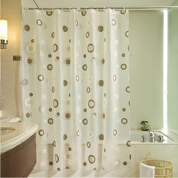 Wholesale Bathroom Curtain Boutique Shower Curtain Waterproof Bathroom Metal Mold Thickened Eye Can Be Customized To Hook The Coffee Ring