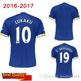 Wholesale 2016 top new Evertonizers Adult T shirt Home and Away maillot de Football everton Shirt