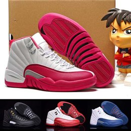 Wholesale Retro Basketball Shoes For Men Women Cheap High Quality Retros XII Pink Sport Boots Newairl s GS Replicas US5
