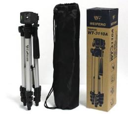 A7s sony en Línea-WEIFENG WT3110A trípode con 3-Way HeadTripod para Nikon D7100 D3100 D90 DSLR Sony NEX-5N A7S Canon 650D 600D 70D WT-3110A