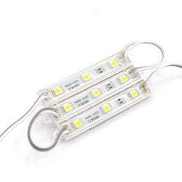 Wholesale LED module light lamp SMD 5050 waterproof LED modules for sign letters LED back light SMD5050 3 led 0.72W 38-45lm DC12V