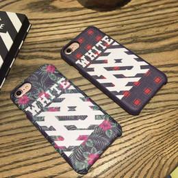 Wholesale Fashion Brand Off White iPhone6 Plus iPhone7 Plus Case Justin Bieber Kanye West Fur Case Slanted Bar High Class Printing Elegant Packaging
