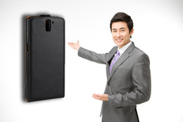 Wholesale OnePlus One The plain leather machining Mobile phone holster Flip up and down business Mobile phone cases Leather holster