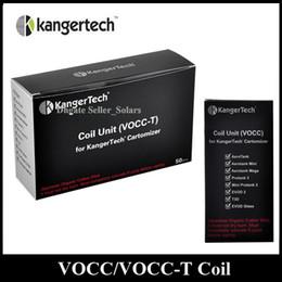 Verre kanger aerotank à vendre-Original KangerTech récent remplacement VOCC VOCC-T Coil atomiseur Head 0.8 / 1.0 / 1.2 / 1.5 / 1.8ohm ajustement Kanger Aerotank Evod verre
