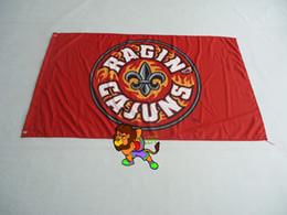 University of Louisiana at Lafayette Flag 3ft x 5ft Polyester Banner Flying 150* 90cm Custom flag sport helmet