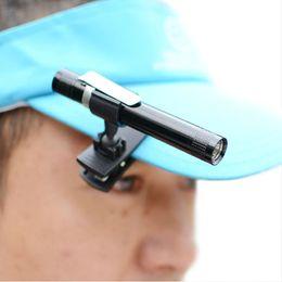 Wholesale protable head lamp led clip cap lamp brim light bait plate lamp by AAA battery fishing lamps book light