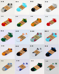 Wholesale 25 styles Hot High Quality Short Crew Socks Skateboard hiphop socks Leaf Maple Leaves Sockings Cotton Unisex Plantlife Socks