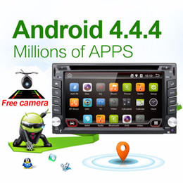 Wholesale Car Electronic autoradio din android car dvd player stereo GPS Navigation WIFI Bluetooth Radio G CPU G TV Option