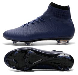 Wholesale New X SUPERFLY IV all navy Men s soccer cleats customize name and No football boots soccer shoes