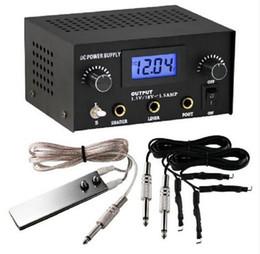 Pro Digital Dual Black Tattoo Machine Power Supply Kit w  2 Clip Cord & Foot Pedal