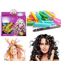 50 Sets DIY MAGIC LEVERAG Magic Hair Curler Roller Magic Circle Hair Styling Rollers Curlers Leverag perm 18pcs set In stock