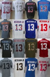 Wholesale New York Odell Beckham Jr Black Green White Grey Salute TO Service Drift USA Flag Fashion Gridiron light out Impact Platinum Jerseys