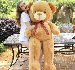 2015 filled Large bear 0.8m Meters for choose Teddy Bear Lovers Big bear Arms Stuffed Animals Toys Plush Doll Birthday gift
