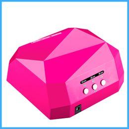 Wholesale New CCFL W LED Light Diamond Shaped Best Curing Nail Dryer Nail Art Lamp Care Machine for UV Gel Nail Polish