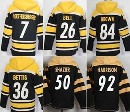 Wholesale Steelers hoodies cheap football jerseys hoody sweatshirts ROETHLISBERGER BELL BROWN BETTIS SHAZIER HARRISON freeship