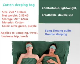 Wholesale Hot sale convenient lightweight cotton production carried large double sleeping bag matching pillowcases suitable for spring and autumn out