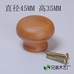 Wholesale Antique circular mushroom shaped single hole wood handle handle chocolate log doorknob