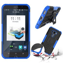 Wholesale For Asus Zenfone ZS570 KL inch Rugged Rubber Back Cover Case Kickstand Armor Shockproof Hard Soft Silicone Phone Case