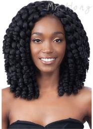 Wholesale Crochet Models - New Arrival 2X Value Model Model Jumpy Wand Curl Twist Janet Crochet Marley Twist Bounce Braid Hair Extension t 2X Havana Mambo