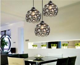 Wholesale hot sale LED Crystal Pendant Lamp K9 Crystal Creative restaurant wrought iron chandelier head LED E27 base corridor crystalline Light