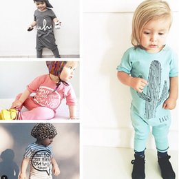 Summer Kids Boys Girls Romper Clothes Fashion Unisex Toddler Infant Letter Casual Vintage Jumpsuit Overalls One Piece Clothing