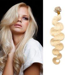 Body Wave #613 Bleach Blonde Brazilian Human Hair Weave 100% Unprocessed Human Hair Bundles Non Remy Hair Weft 1PC Free Shipping