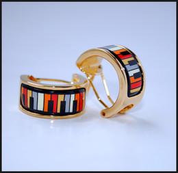 Playing Music Series Hoop earring 18K gold-plated enamel earrings for woman Top quality hoop earrings