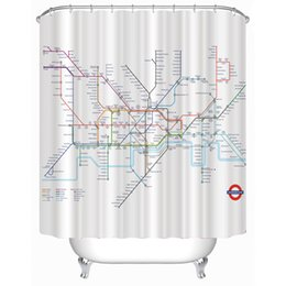 Wholesale Customs W x H Inch Shower Curtain London Railway Map Waterproof Polyester Fabric Shower Curtain