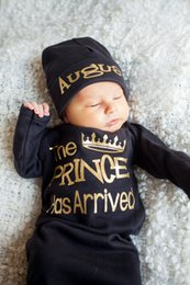Spring Autumn Infant Baby Sleepwear Clothes Kids Pajamas Toddler Baby Crown Letters Printed Sleeping Clothing