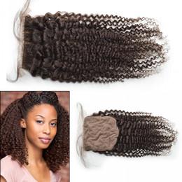 Mongolian Silk Base Closure,Free 3 Part Kinky Curly Silk Base Closure Mongolian Virgin Hair,4x4 Silk Top Closure LaurieJ Hair