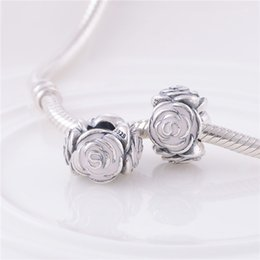 Fits Pandora Bracelet&Charms Pandora Rose Garden Charm DIY Beads Solid 925 Silver Not Plated