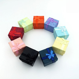 Wholesale 50 Pcs  lot Square Ring Earring Necklace Jewelry Box Gift Present Case Holder Set W334