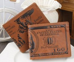 Fashion Creative purses 100 Dollars Personalized Cheap Wallets Three Layer Folded Short Wallet, Dollar Price Coin Card Multi-Function Purse