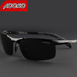 Wholesale Hot brand polarized sunglasses man s personality Cool Aluminum magnesium Drivers driving Travel essential boy man sunglasses with case