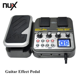 Wholesale High Quality NUX MG Modeling Guitar Processor Guitar Effect Pedal Drum Tuner Recorder Effect Preset Multi function