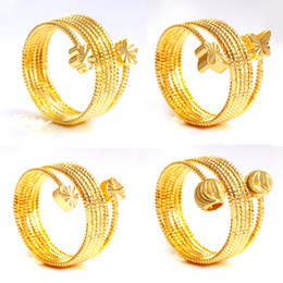 Woman Fashion Luxury Jewelry Unique Charm Gold Plated Adjustable Circles Shape Opening Wed Ring Brand New Gold Ring for Wedding