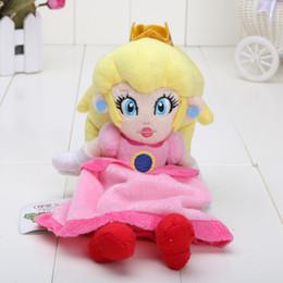 Jeu Anime Super Mario Bros. 8inch 20cm assis Princess Peach Plush Doll EMS au détail de vente au détail à partir de jeux anime vidéo fabricateur