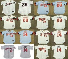 Wholesale Men s Cooperstown Minnesota Twins blank BERT BLYLEVEN KENT HRBEK Throwback Baseball Jersey stitched