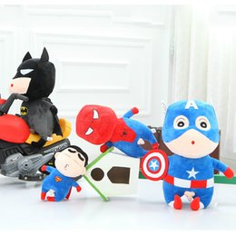 Wholesale 1pcs cm Naughty Crayon turned Avengers Cosplay Spiderman Captain American Stuffed Plush Doll Japanese Anime Action Figure Gift