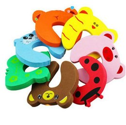 Wholesale 2016 New Desgin Children Baby Kids Animal Cartoon Jammers Stop Door Stopper Holder Lock Safety Guard Finger High Quality DCBB65