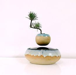 Wholesale 2016 japan high tech products magnetic levitation floating air bonsai no plant ceramic flower pot culture