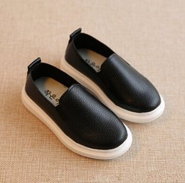 Free Shipping 2018 Summer Slip On Children Leather Breathable Shoes kids casual shoes boys and girls shoes