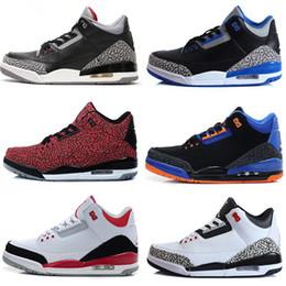 New Cheap Retro 3 Trainers basketball Shoes Wolf grey Sport Blue Black Cement White True Blue Dark Powder Blue Sport sneaker