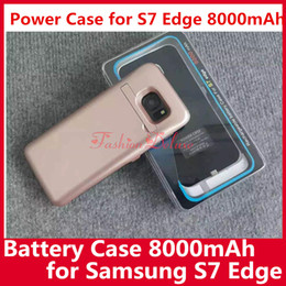 Wholesale Power Case for S7 Edge mAh Rechargable Battery Case Portable Backup Charger External Power Bank Case for Samsung S7 Edge In Stock UPS