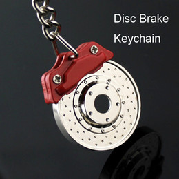 Wholesale Disc Brake Model Keychain Creative Fashion Hot Sale Auto Part Accessories Car Keyring Key Chain Ring 50PCS LOT
